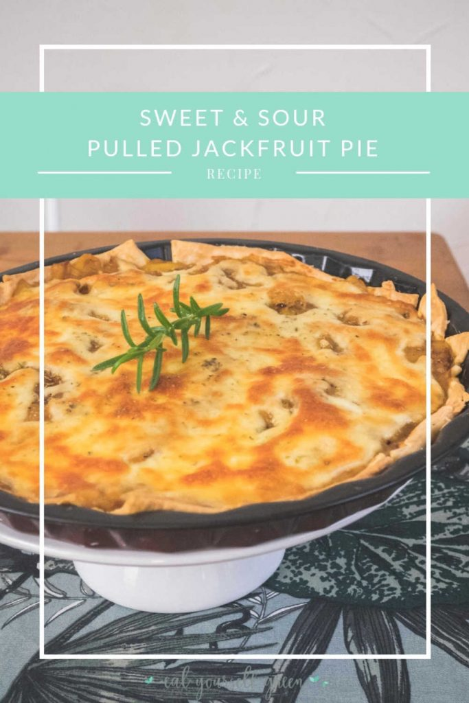Sweet & Sour Pulled Jackfruit Pie | Eat Yourself Green