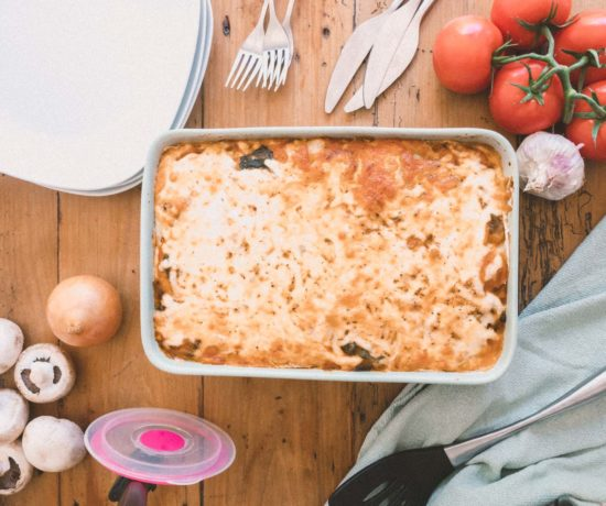If you follow me here for a while you definitely know that my biggest culinary influences come from my mother and grandma who have Italian heritage. So making (and eating) pasta is a great pleasure of mine...hence why I need to share this recipe of my Mamma's Lasagna with you. It's one of my family's best kept secrets and something that I learned early on with my mum. Making everything from scratch will make everything taste better, granted. But making things differently may land you on an even better place. This is the inspiration for this dish. Making things differently ended up making this recipe even more memorable and such a delicious meal. Are you ready to learn the secret? *drum roll* The pasta for the lasagna is actually, crêpe pancakes...I know it may sound weird but do NOT dismiss this trick. The crêpes make for the perfect, fluffier pasta for the lasagna, adding a more complex flavour to the overall dish and giving it a lighter finish. Now, I know it's a bummer that you have an extra step in there to make this dish BUT I promise you, it will be worthy. Plus, if you are in self-isolation, like myself, this is the perfect excuse to get cooking! Please let me know if you try it? Okay, now I'm sorry I don't have the perfect pics to convince you to make this, but I put together a little video so you can check it out for yourself. No items found. My Mamma's Lasagna Also, I know making this is time consuming, but that's the perfect recipe to make now, freeze and enjoy later. Make lots of it, bring the kids to help and enjoy it now and later. I honestly hope you love this, because it's one of my favourite and one that brings so many good memories for me. I hope you can feel it when you make it at home. My Mamma's Lasagna (a Family Secret) Recipe Type: Main Cuisine: Italian Author: Eat Yourself Green by Larissa Prep time: 1 hour Cook time: 1 hour Total time: 2 hours Serves: 8 A delicious traditional dish with a twist that adds flavour and lightness to the whole me