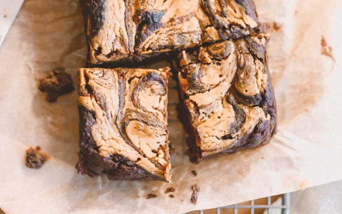 Vegan Protein Peanut Butter Brownies   Eat Yourself Green